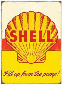 Shell Pump Steel Sign    (rh)